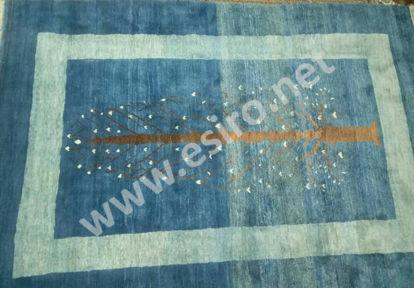 6 m Iranian blue woolen handmade Gabbe